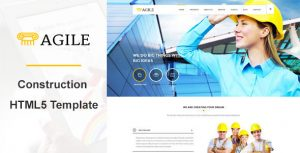 Agile Building & Construction WordPress Theme