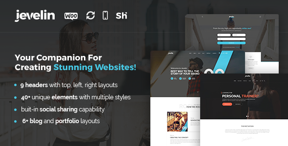 Jevelin Multi-Purpose Premium Responsive WordPress Theme